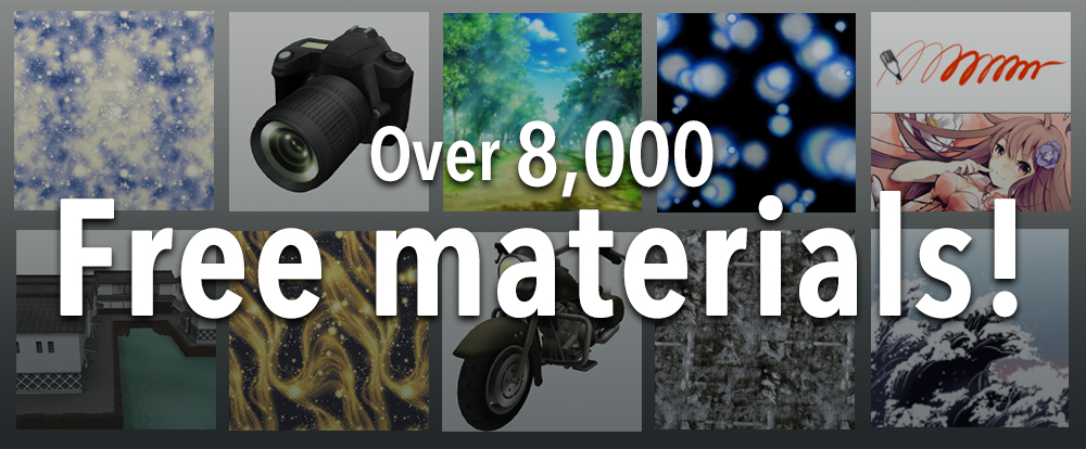 Over 8,000 free materials!