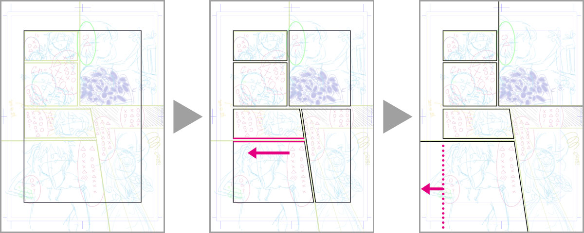 Frame border tool and border line split tool that can easily do frame cut