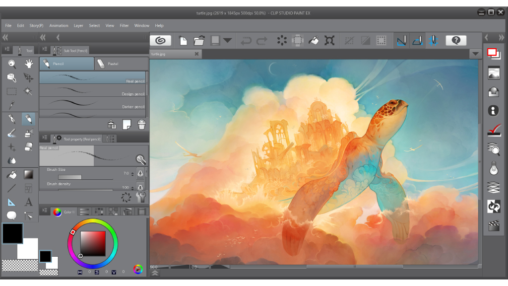 Functions clip studio paint clip studio net Art design software