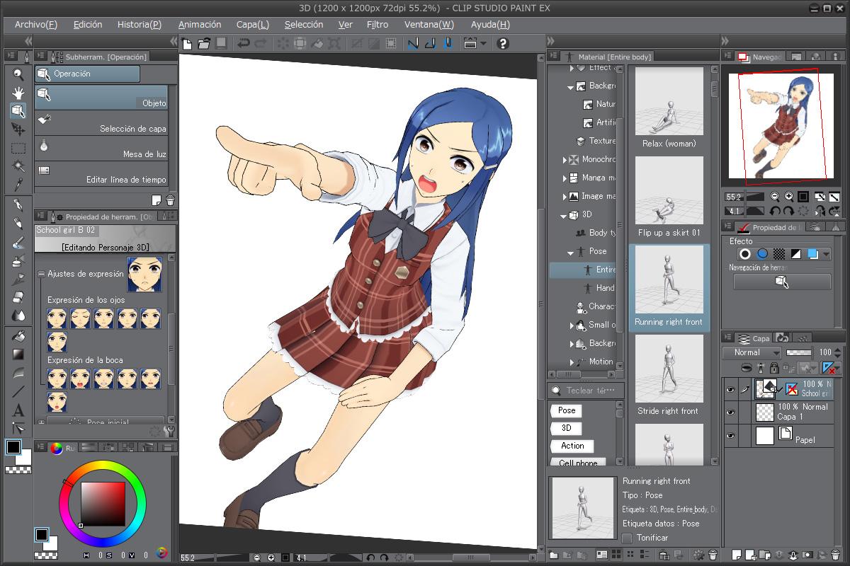 Funciones clip studio paint clip studio net for Programa para dibujar en 3d