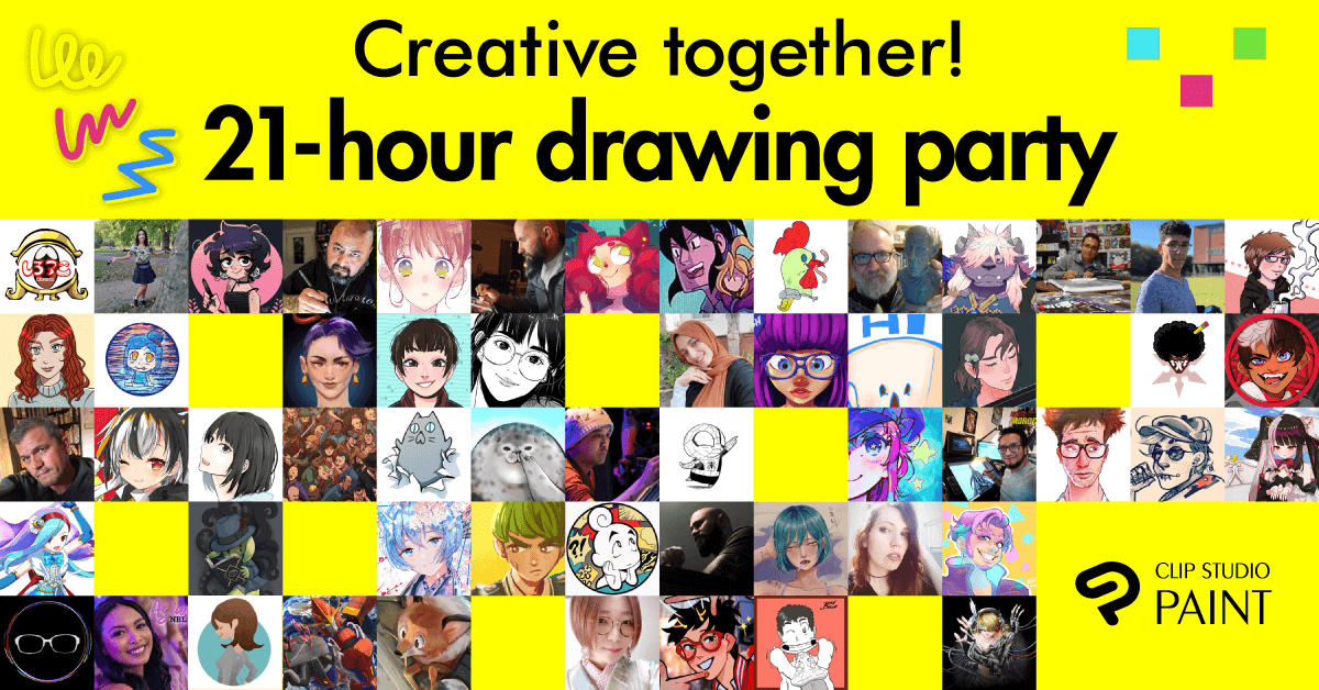 Announcing the Artists of the Creative Together! Connected Ink 21-hour Drawing Party! Update: November 12, 2020