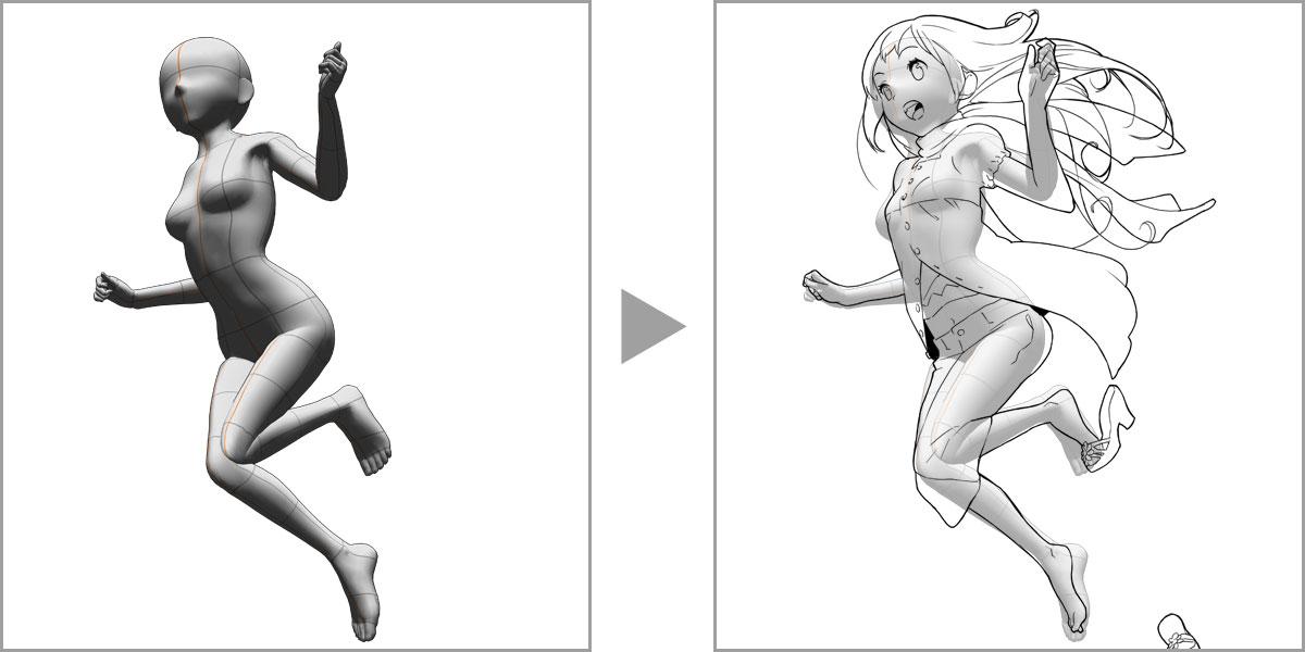 Als Basis Fur Ihre Illustration Sie Konnen Die Korperform Und Proportionen Der Zeichenfiguren Von CLIP STUDIO PAINT An Den Ihnen Benotigten Stil