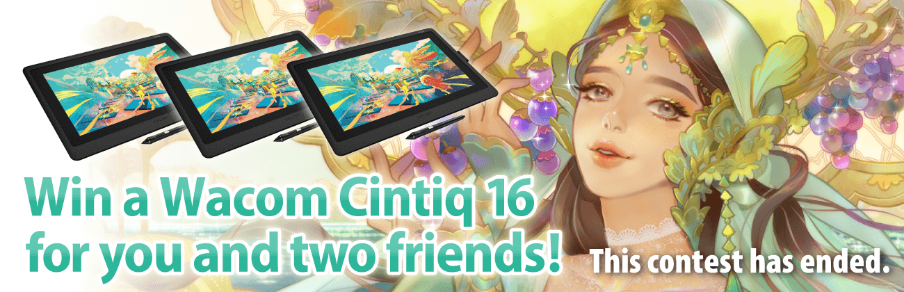 Win a Wacom Cintiq 16 for you and two friends!