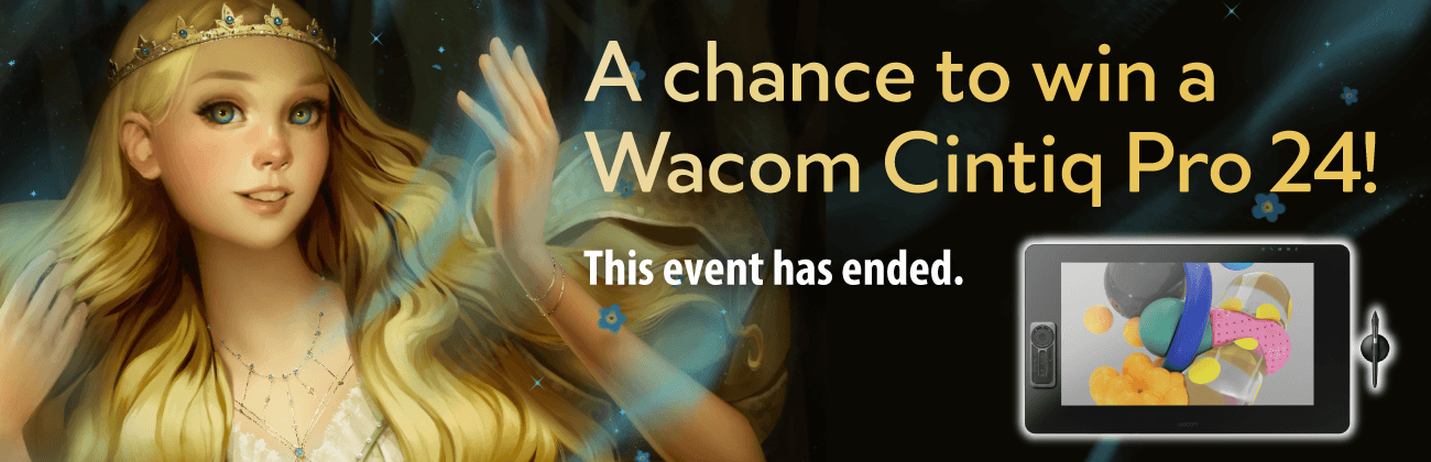 A chance to win a Wacom Cintiq Pro 24!