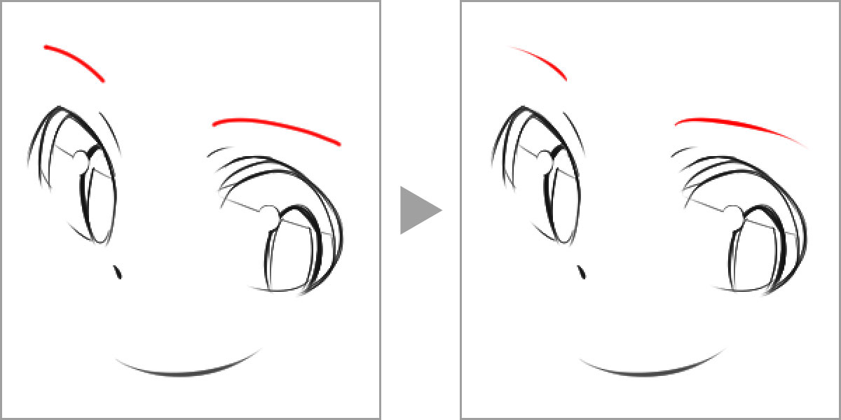 Brush settings that add flourishes to the beginning and end of strokes