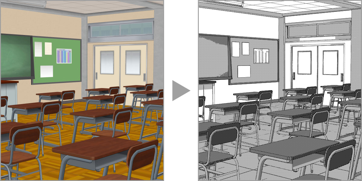 Use 3D models as backgrounds for comics and manga