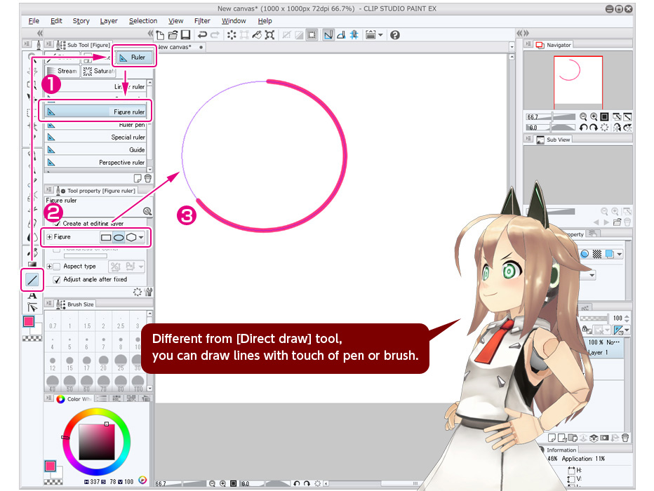 Scribble Drawing Tool : Draw with ruler trial tour clip studio