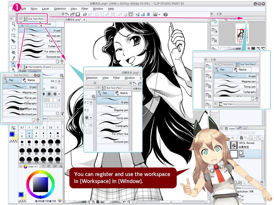 clip studio paint 3d models download