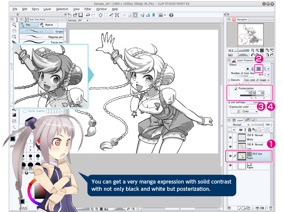 you can get a very manga expression with solid contrast with not only black and white - Turn Black And White Photo Into Color