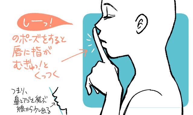 横顔 目 描き 方