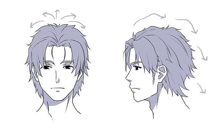 男性キャラを描くための顔・髪型・身体の特徴を解説