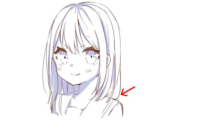 キャラクターの個性を演出する髪の描き方講座