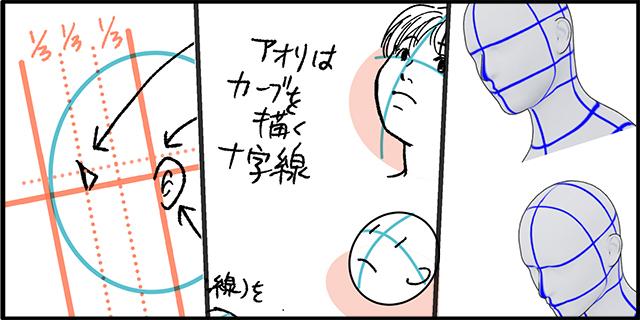 横顔の描き方