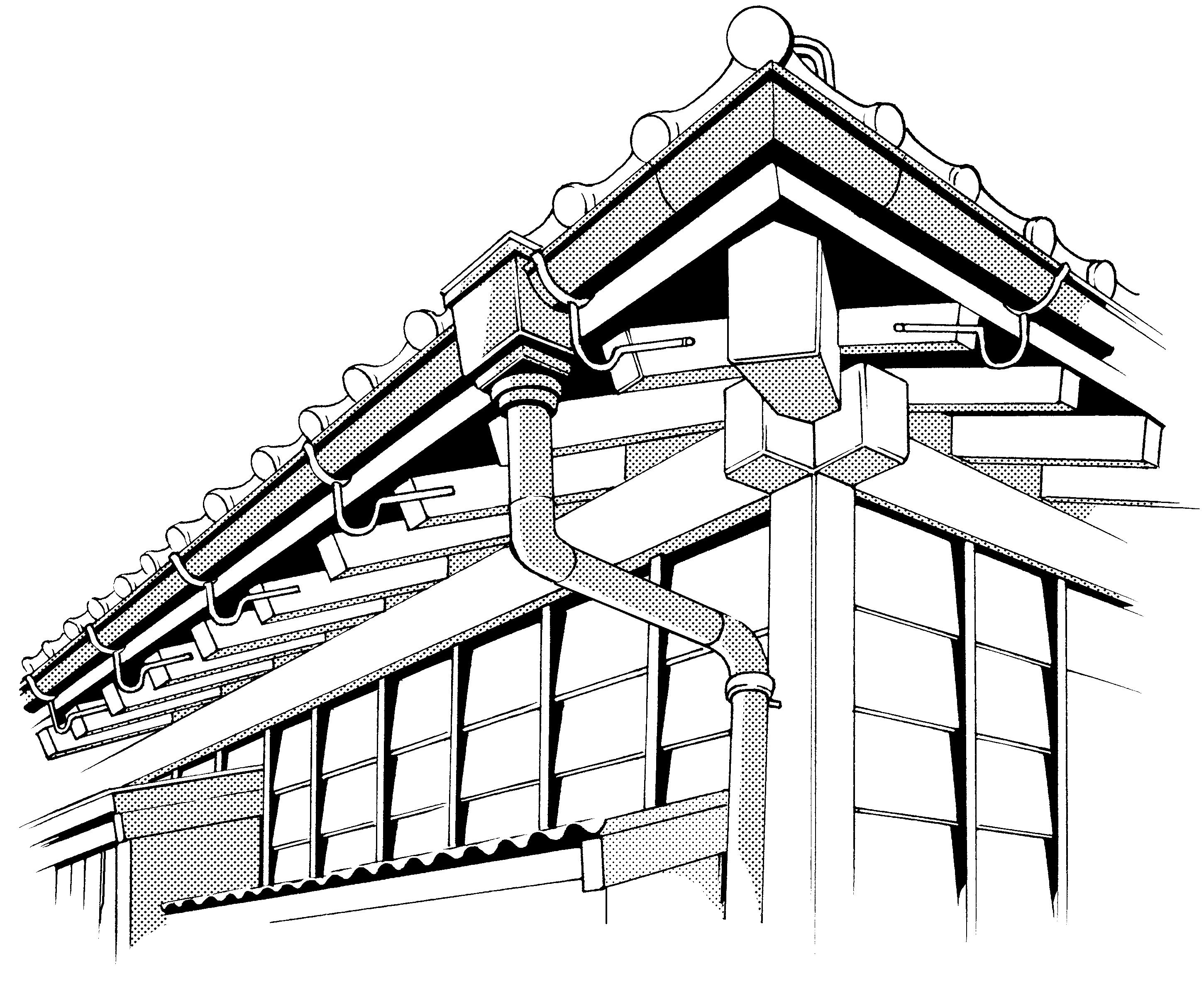 超級 背景講座 Maedaxの背景萌え 軒先の裏の描き方 イラスト マンガ描き方ナビ