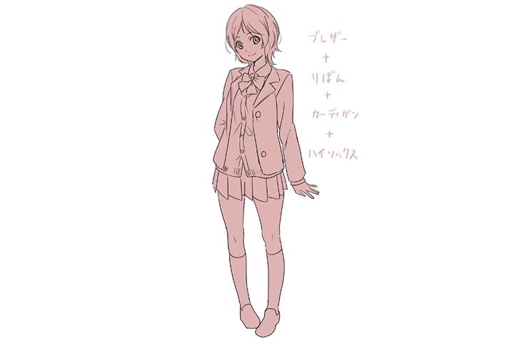 女子高生の制服の描き方講座 イラスト マンガ描き方ナビ