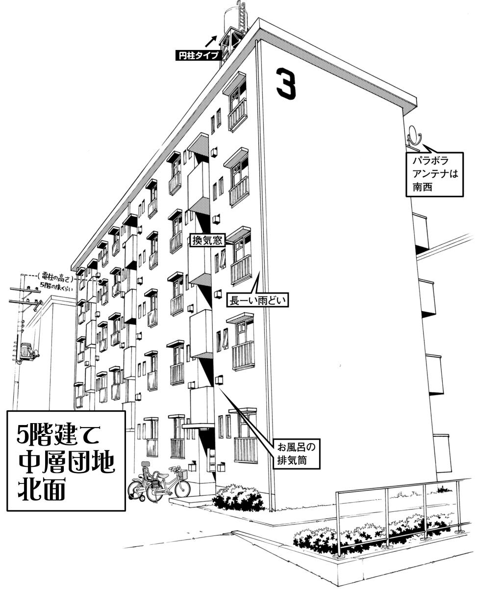 超級 背景講座 Maedaxの背景萌え 団地編 イラスト マンガ描き方ナビ