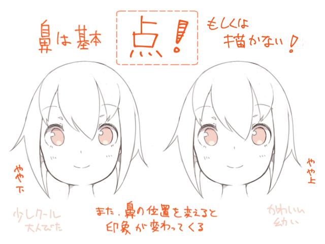 かわいい と思わせる女の子の顔の特徴と描き方 イラスト マンガ