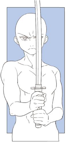 構える ポーズ 剣