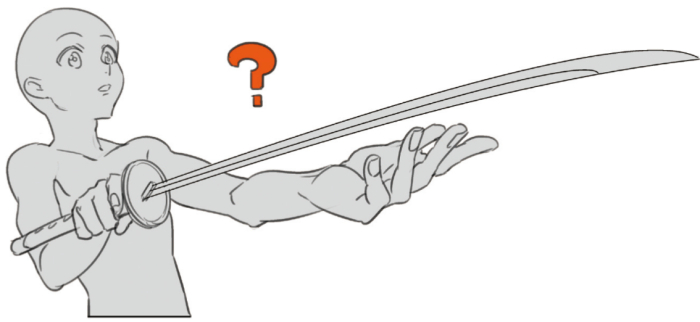 ポーズ研究 刀のカッコイイ構え方 作例 イラスト マンガ描き方ナビ