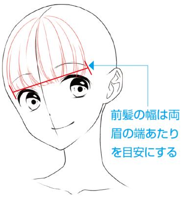 前髪 イラスト 女の子