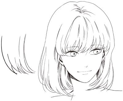 髪の毛 書き方