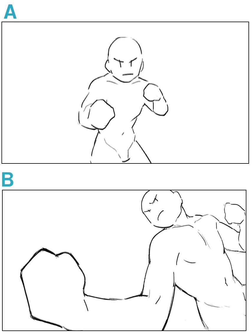 構図 キャラクターに迫力を出す見せ方のコツ イラスト マンガ描き方ナビ