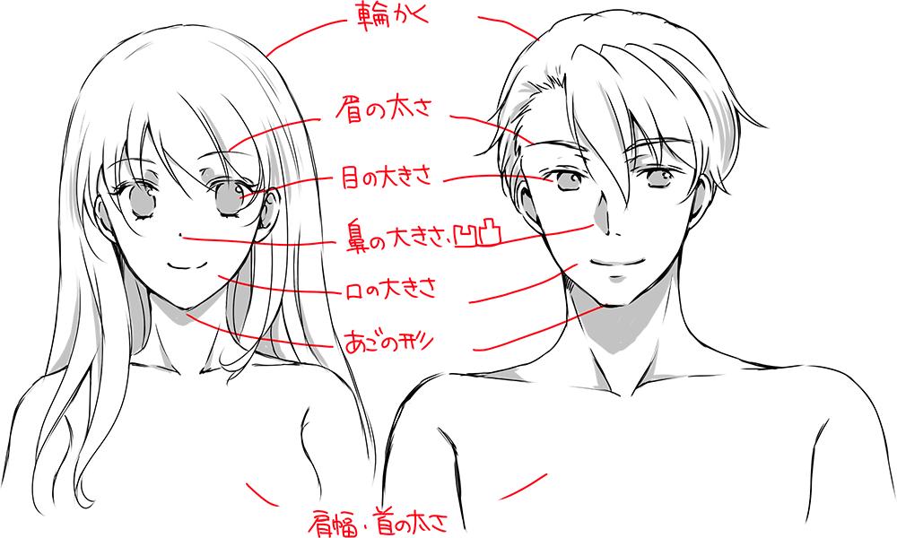 イケメン 理想のイケメンが描ける 顔 体格のポイント キャラクター イラスト マンガ描き方ナビ