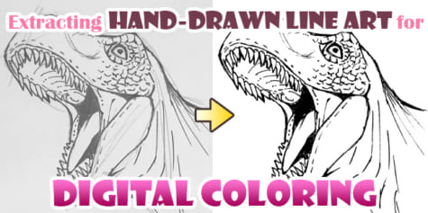 Extracting Scanned Line Art for Digital Coloring