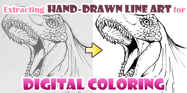 Extracting Scanned Line Art For Digital Coloring Art Rocket