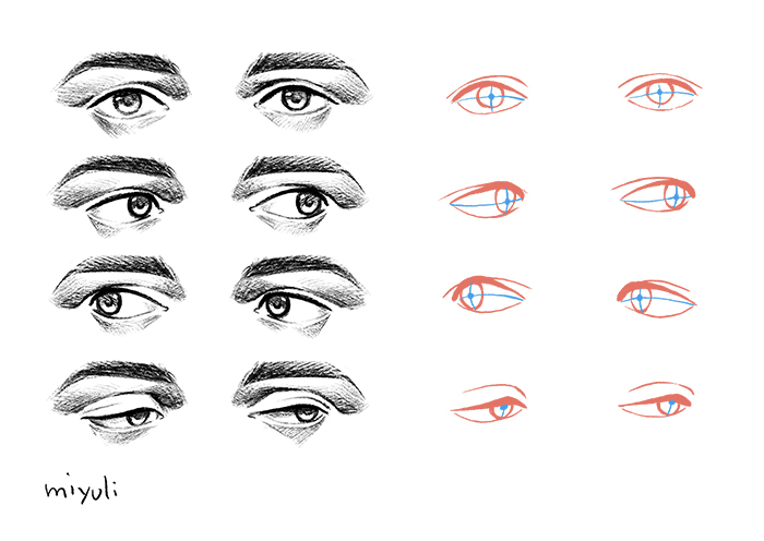 Easy Caricature Eyes
