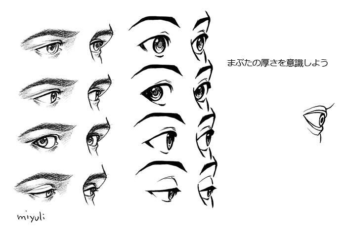 キャラクターを表情豊かにする 立体的な目の描き方講座 イラスト マンガ描き方ナビ
