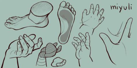 Aprende a dibujar manos y pies