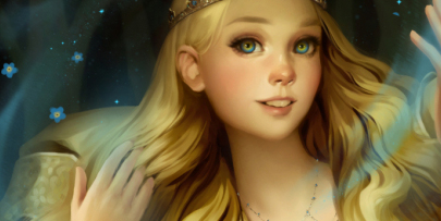 Drawing a fairy tale princess