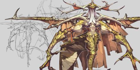 Diseño del dragón humanoide, por Tan Zhi Hui (Kudaman)