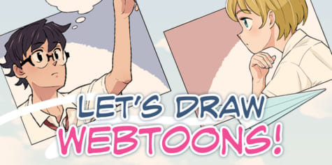 What are Webtoons? Drawing comics in the vertical scrolling format.