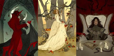 Stylisation gothique d'illustrations