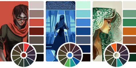 Les jeux de couleurs sont les teintes choisies pour l'élaboration de ses designs et illustrations