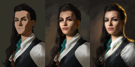 Painting a Pirate -Shading and Lighting Techniques for Portraits-