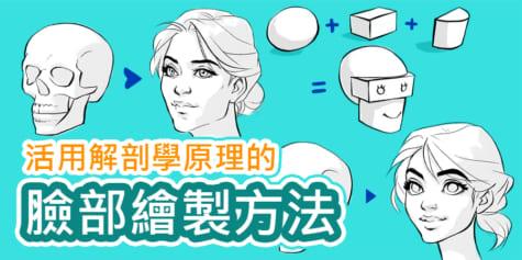 活用解剖學原理的臉部繪製方法