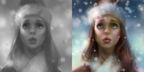 Grayscale to Color – Digital Character Painting
