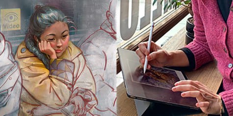 Mémoires de dessin : l'expérience d'une artiste sur iPad