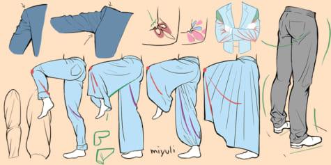 옷 주름을 그리기 위한 필수 요령