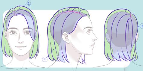 Guide pour dessiner les cheveux