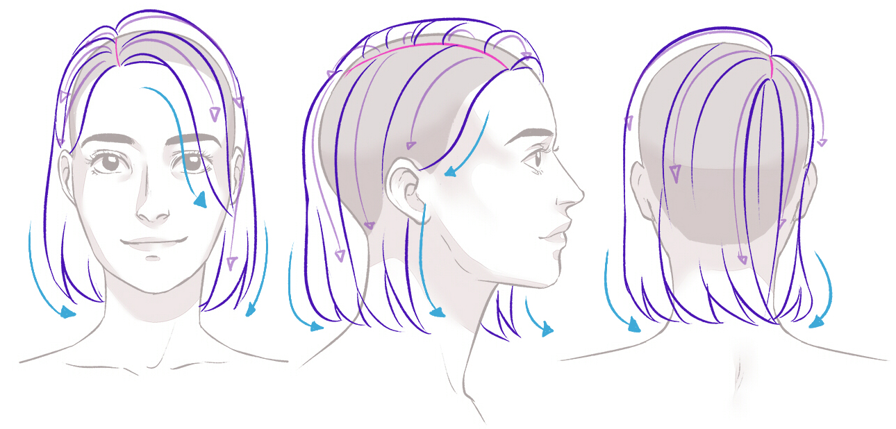 How to Draw Hair   Art Rocket