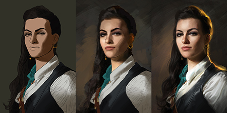 繪製肖像畫的光影技巧
