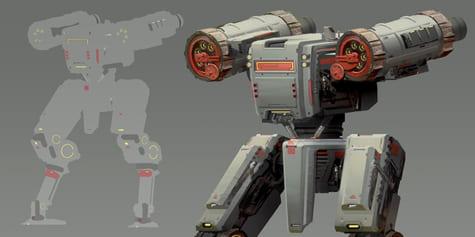 拼貼照片一步步設計機械完成機器人吧!