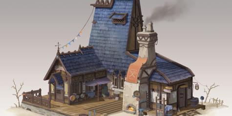 Diseña una herrería medieval gracias a los modelos 3D y la perspectiva