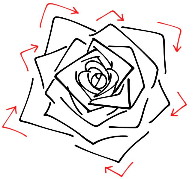 薔薇 バラ の描き方 誰でも簡単に描ける手順を解説 イラスト マンガ描き方ナビ