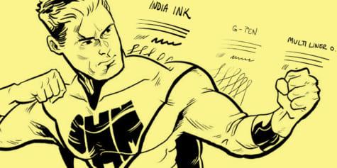 Entintado de cómics de superhéroes en CLIP STUDIO PAINT