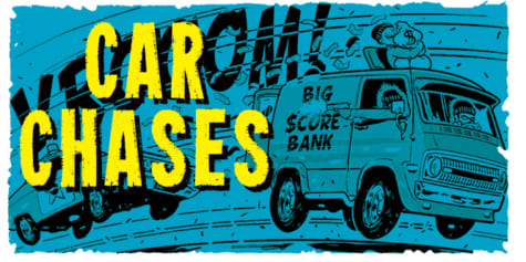 How to Draw CAR CHASES